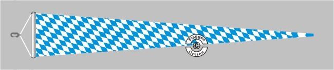 Bayern Raute ohne Wappen Langwimpel mit Querholz