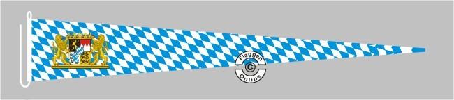 Bayern Raute mit Löwenwappen Langwimpel