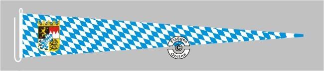 Bayern Raute mit Wappen Langwimpel