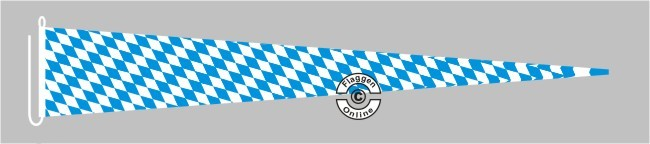 Bayern Raute ohne Wappen Langwimpel