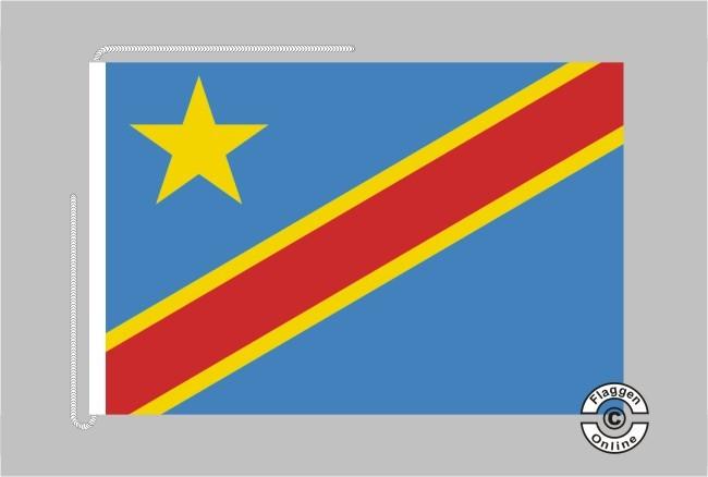 Demokratische Republik Kongo Tischflagge