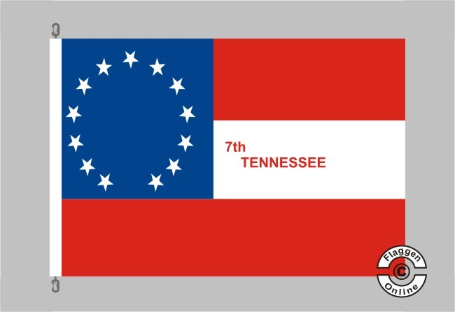 7th Tennessee Infanterieregiment Flagge