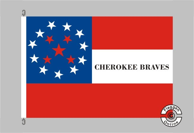 2nd Cherokee Mountet Rifles Flagge