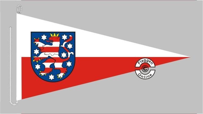 Thüringen mit Wappen Bootsstander Wimpel