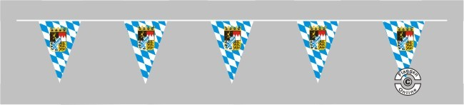 Bayern Raute mit Wappen Wimpelkette