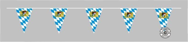 Bayern Raute mit Löwenwappen Wimpelkette