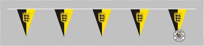 Baden-Württemberg mit Wappen Wimpelkette
