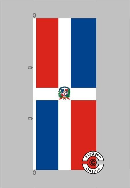Dominikanische Republik Hochformat Flagge