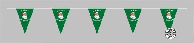 Merry Christmas grün Wimpelkette