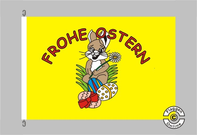 Frohe Ostern gelb Flagge