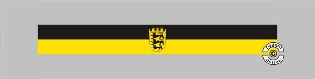 Baden-Württemberg mit Wappen Tischband