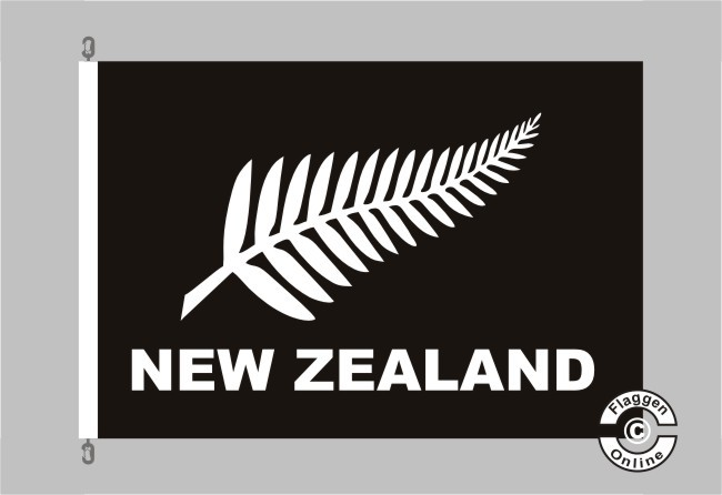 Neuseeland Silberfarn schwarz Flagge