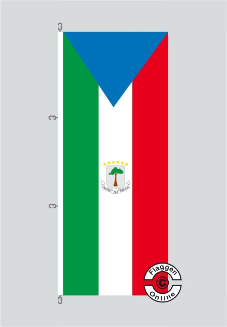 Äquatorialguinea Hochformat Flagge