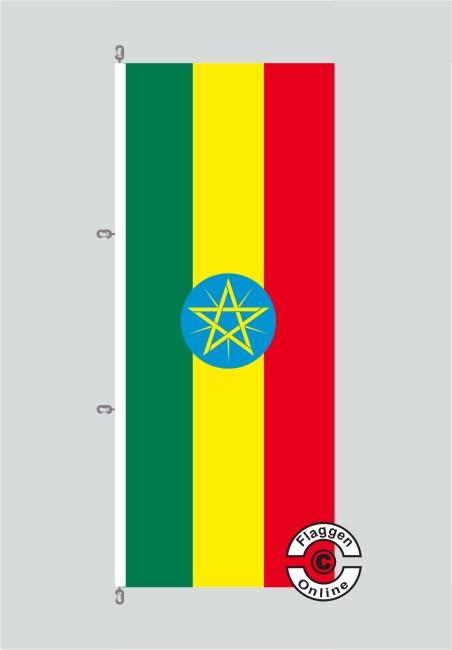 Äthiopien Hochformat Flagge