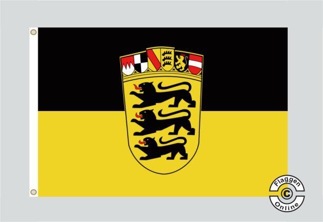 badenw252rttemberg gro223es landeswappen flagge fahne