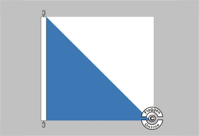 Flagge Kanton Zürich Hissflagge 120 x 120 cm Fahne Schweiz