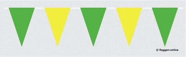 Wimpelkette Grün / Gelb