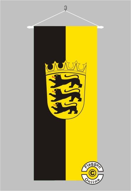 Baden-Württemberg mit Wappen Banner Flagge