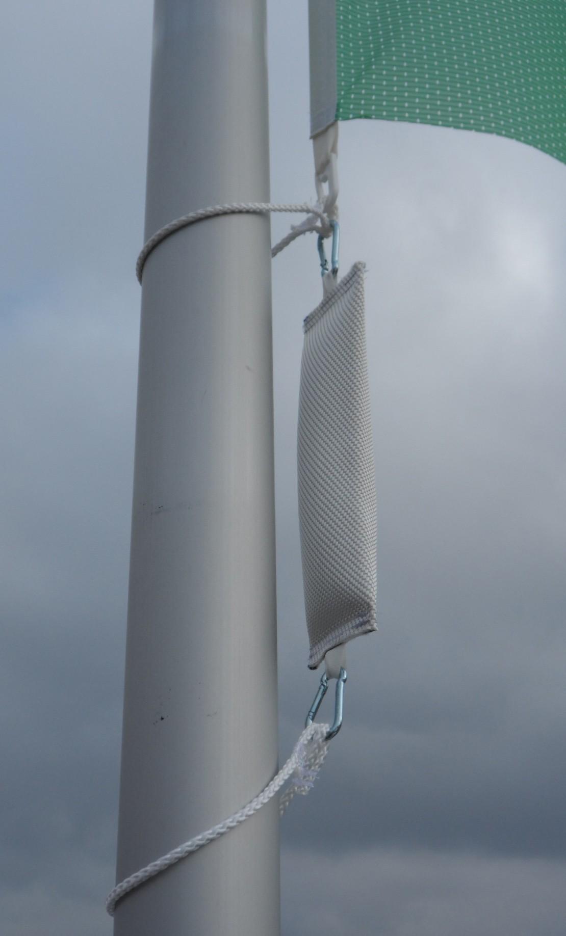 """Flaggengewicht """"Mega-Extrem"""" ca. 1500 Gramm, Kletterstoppgewicht  für Masten von 60 -90 mm Durchmesser"""