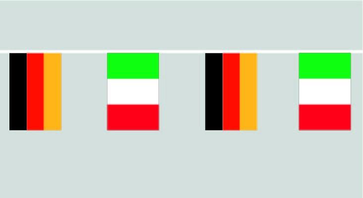 Deutschland Italien Flaggenkette