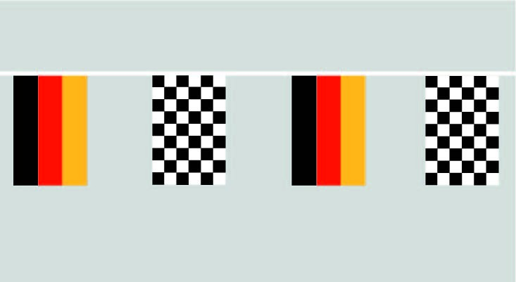 Deutschland Zielflagge Flaggenkette