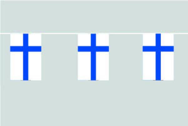 Finnland Flaggenkette