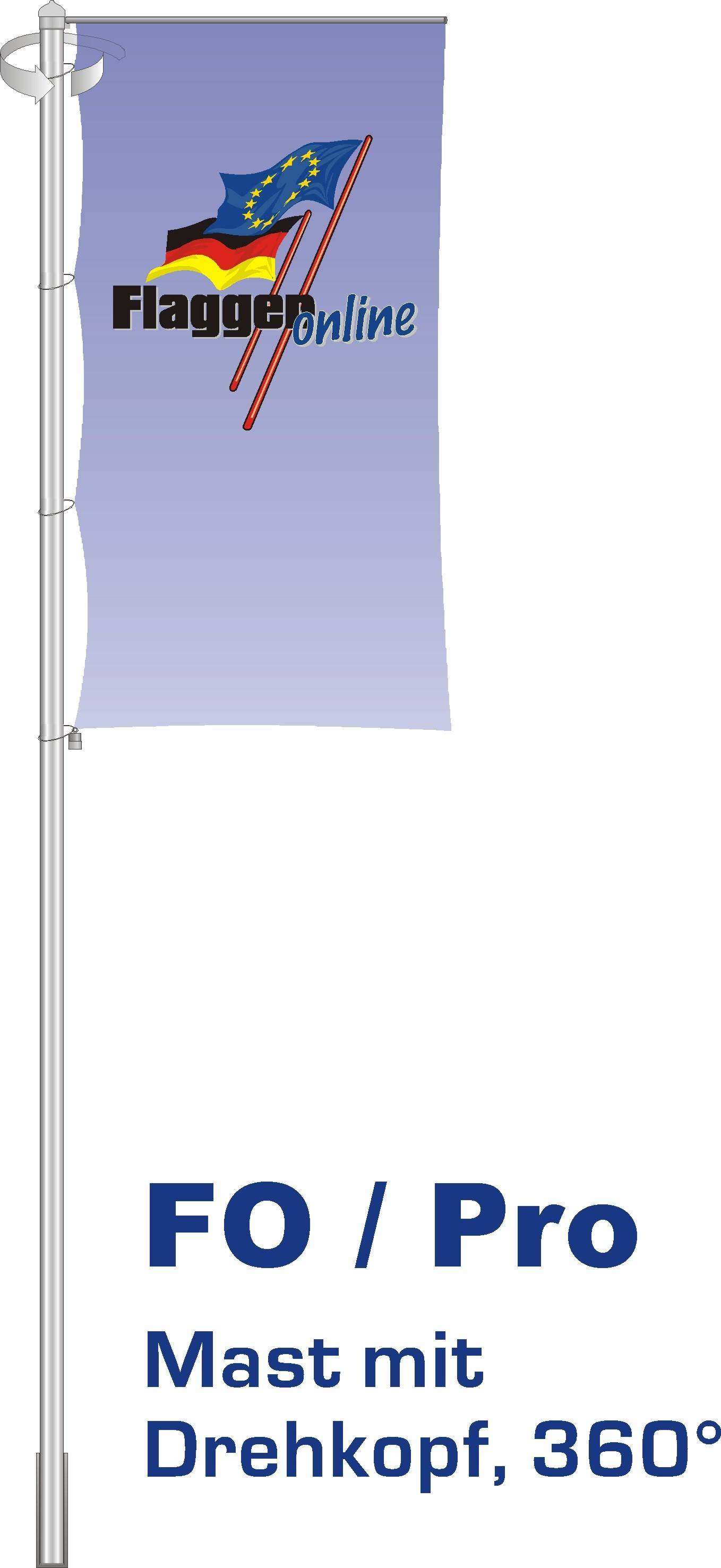 Alu-Flaggenmast Pro, 5 Meter