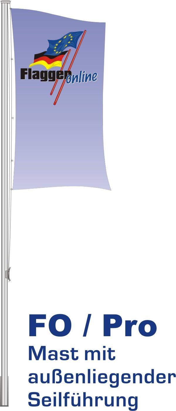 Alu-Flaggenmast Pro, 5,5 Meter