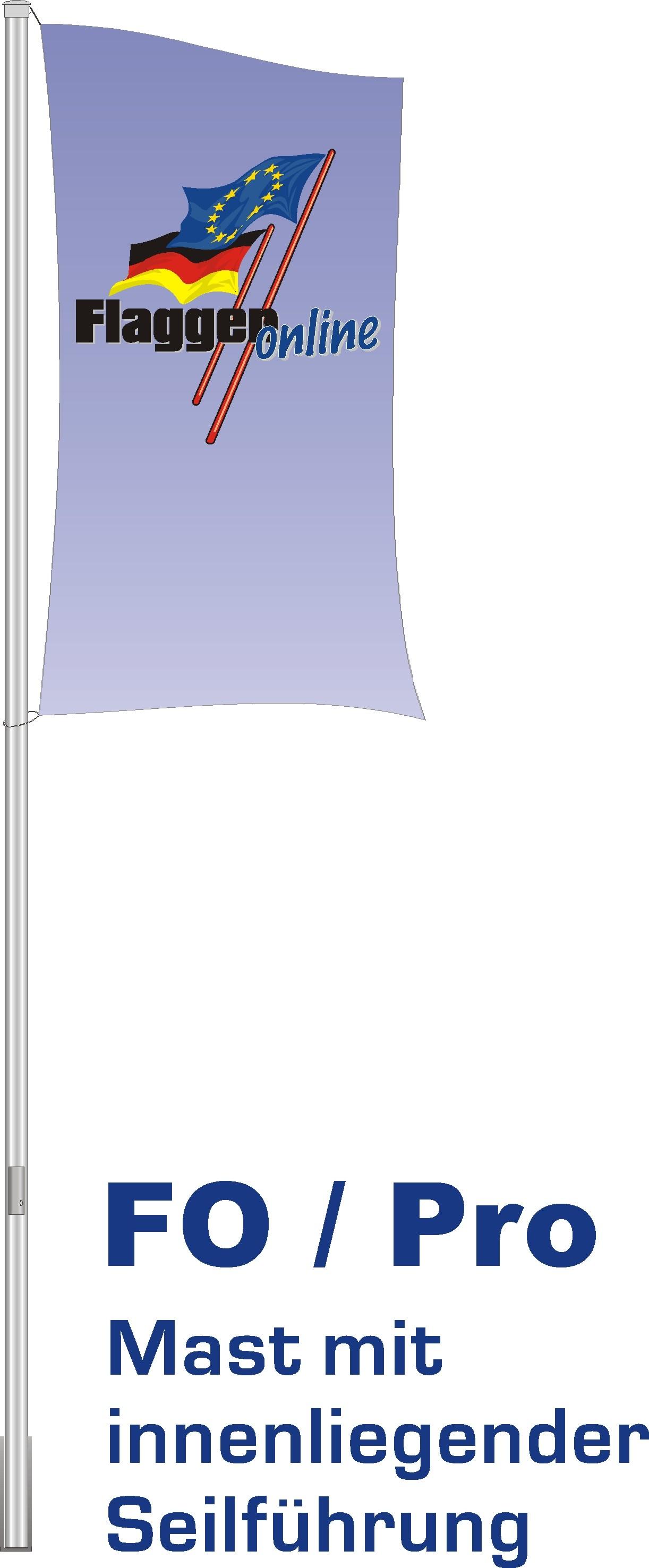 Alu-Flaggenmast Pro, 6 Meter