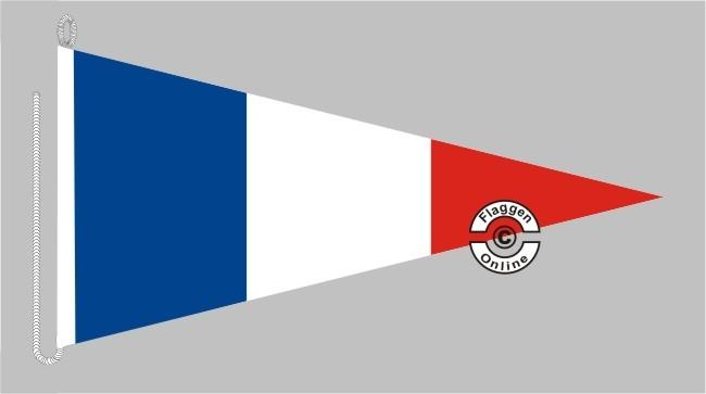 Frankreich Bootsstander Wimpel