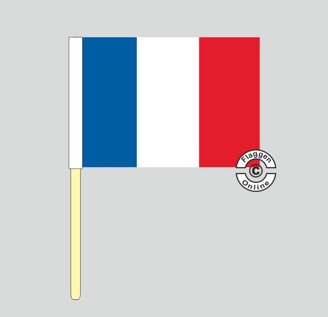 Frankreich Stockflagge
