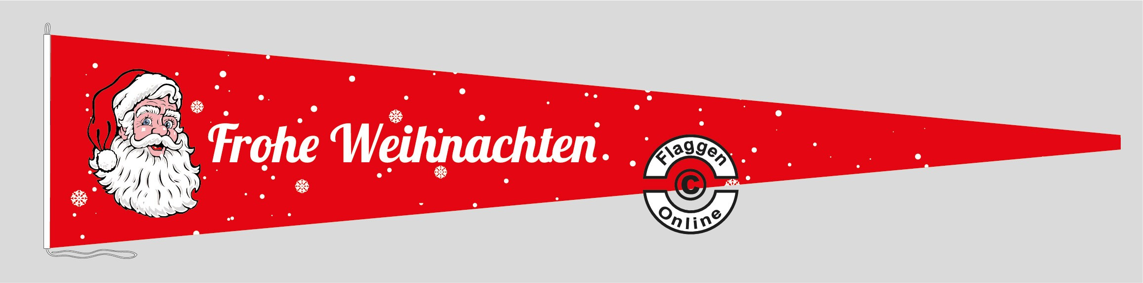 Frohe Weihnachten rot Langwimpel