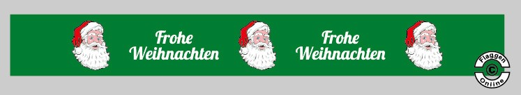 Frohe Weihnachten Tischband