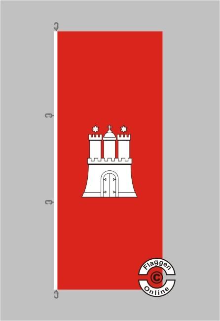 Hamburg Flagge / Fahne für extreme Windlasten