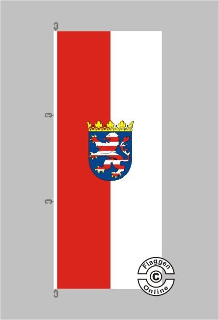 Hessen mit Wappen Flagge / Fahne für extreme Windlasten