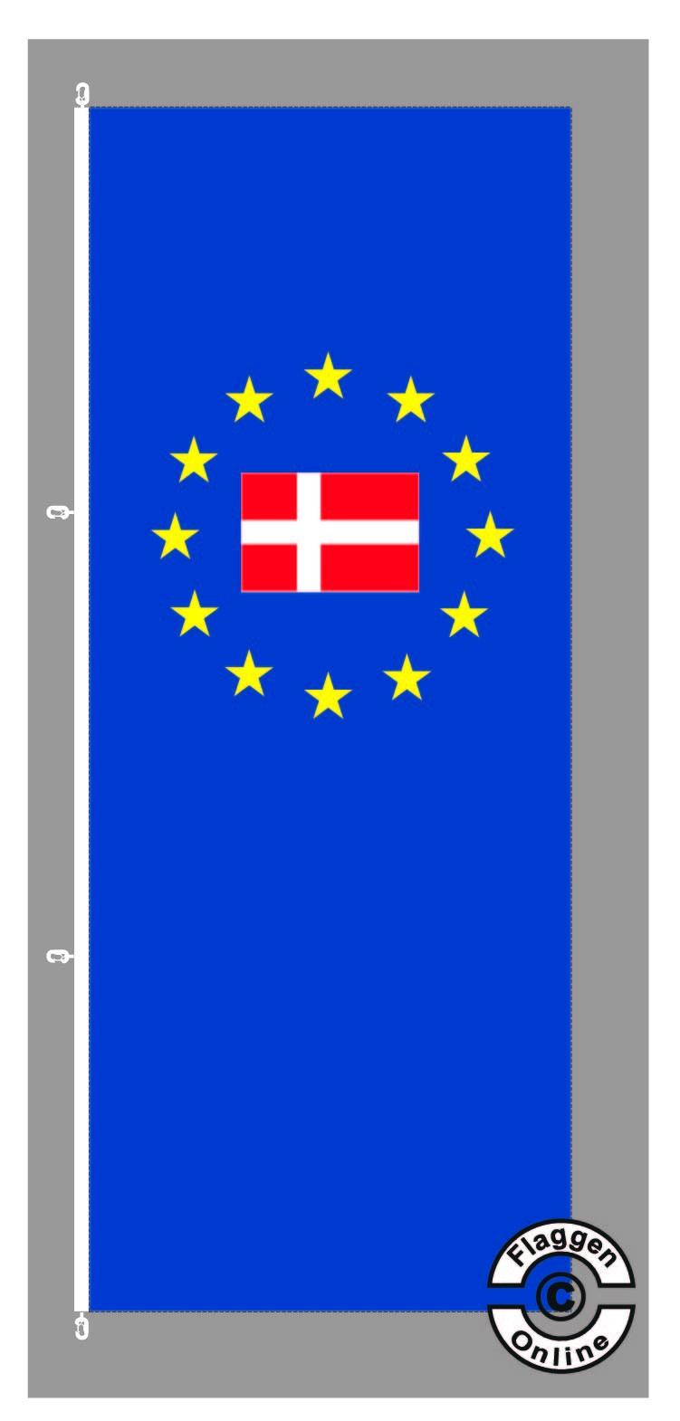 Europa Dänemark Hochformat Flagge