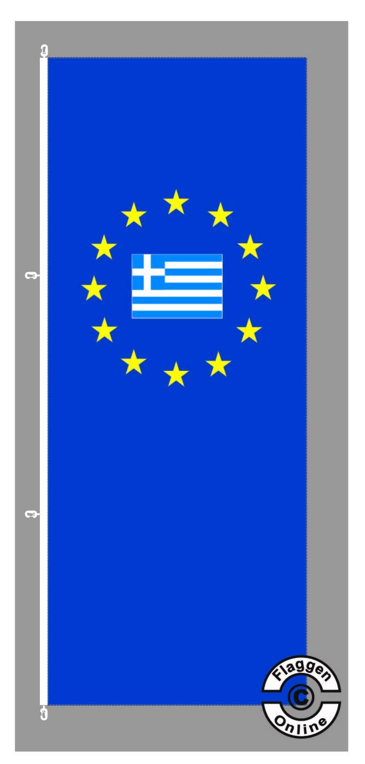 Europa Griechenland Hochformat Flagge