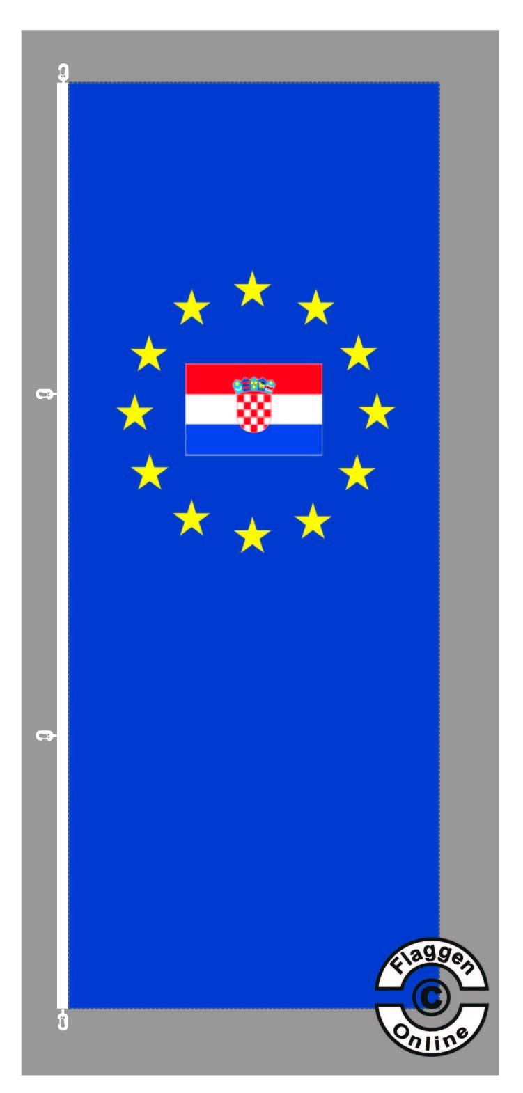 Europa Kroatien Hochformat Flagge