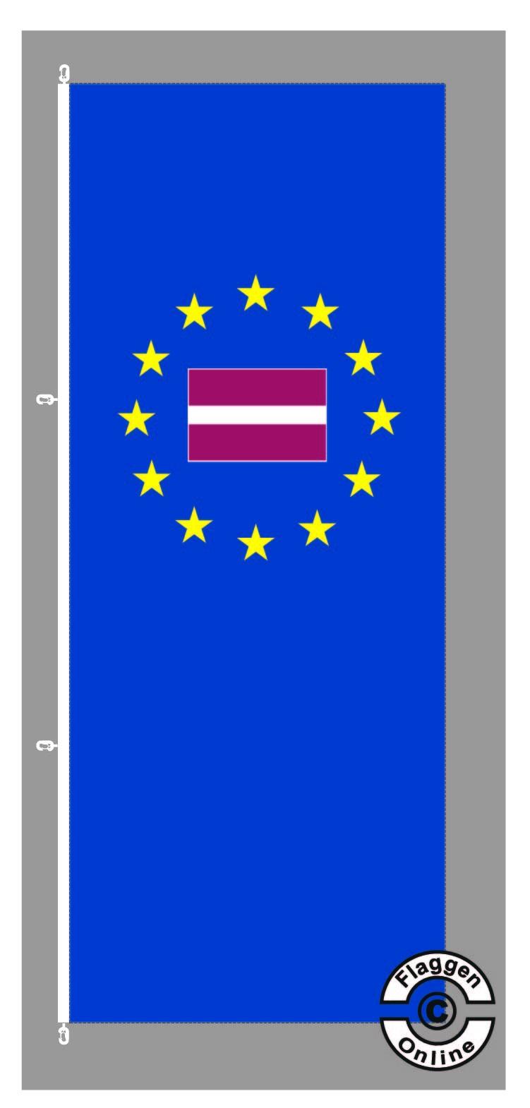 Europa Lettland Hochformat Flagge