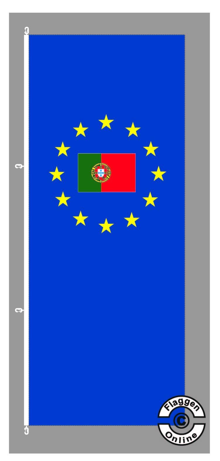 Europa Portugal Hochformat Flagge