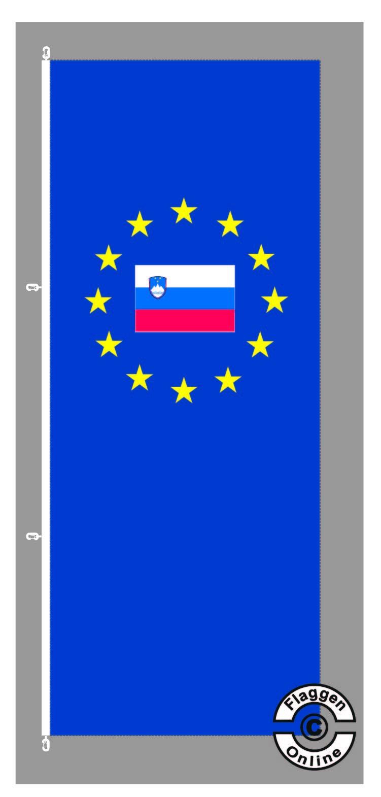 Europa Slowenien Hochformat Flagge