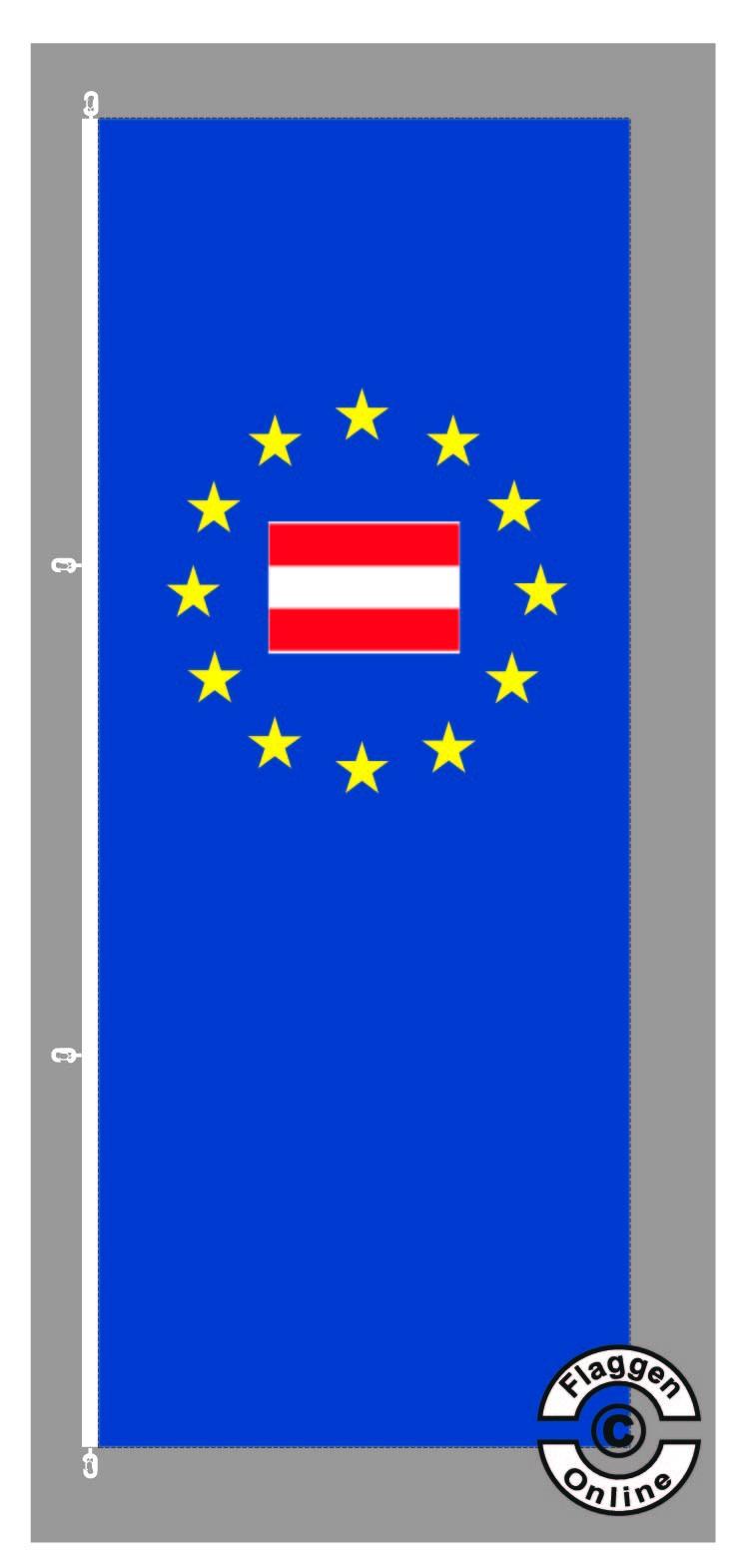 Europa Österreich Hochformat Flagge