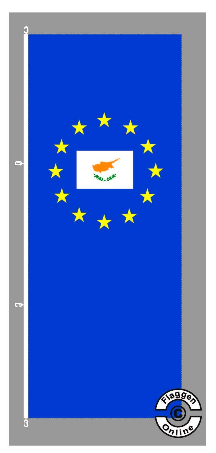 Europa Zypern Hochformat Flagge