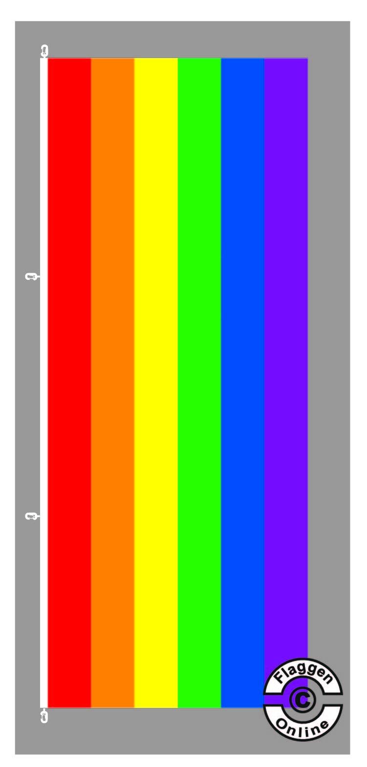 Regenbogen Hochformat Flagge