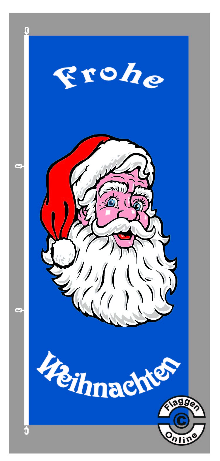 Frohe Weihnachten blau Hochformat Flagge
