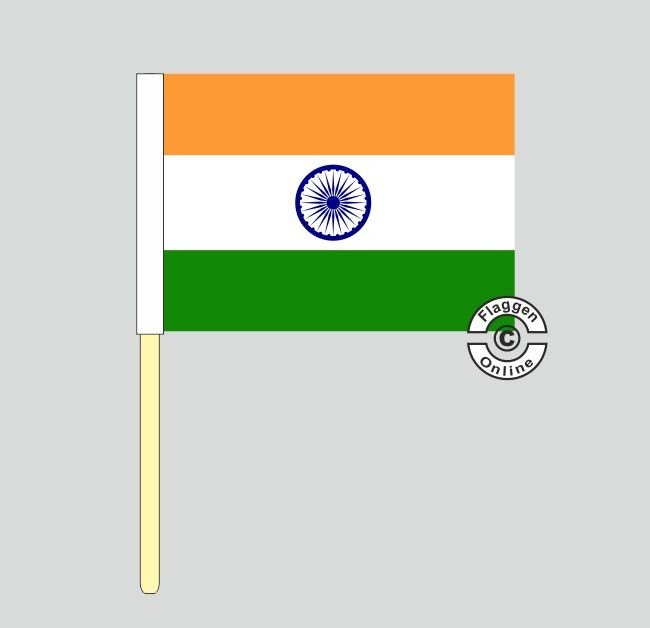 Indien Stockflagge