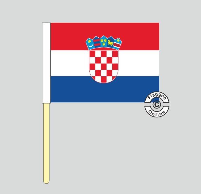 Kroatien Stockflagge