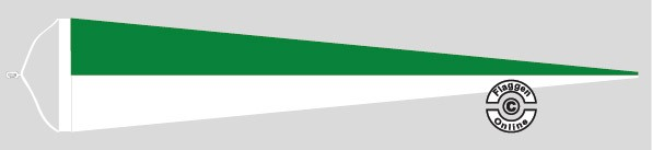 Langwimpel Grün / Weiß mit Querholz