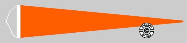 Langwimpel Orange mit Querholz