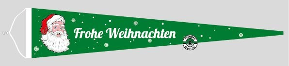 Frohe Weihnachten Langwimpel mit Querholz